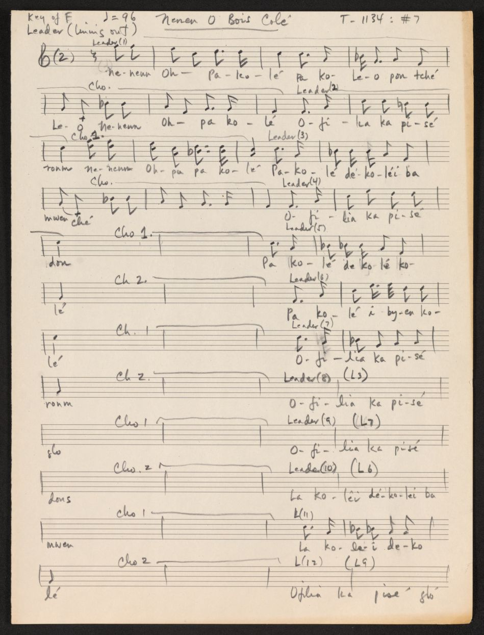 Sheet Music from the Carribean Folk Song Project
